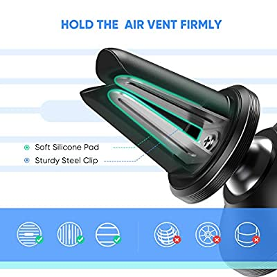 UGREEN Car Phone Mount Magnetic Air Vent Universal Magnet Cell Phone Holder Compatible for iPhone 11 Pro Max SE XS XR X 8 Plus 6 7 6S 5 Samsung Galaxy S20 S10 S9 S8 Note 9 8 S7 S6 LG V40 G7 G8 (Black)