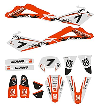 JFG RACING Custom Motorcycle Complete Adhesive Decals Stickers Graphics Kit For 2014-2016 Husqvarna TE 125-250-300 FE 250-350 350S-450-501 501S