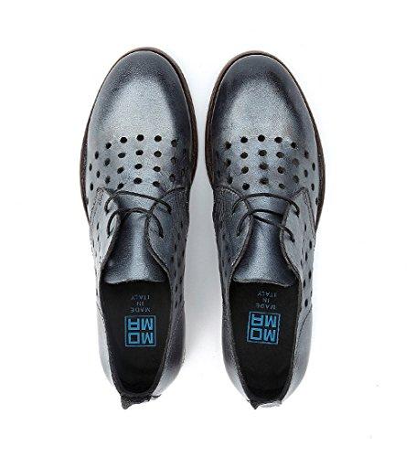 MOMA EN Cordones Envejecida Piel Plata con Plata Zapato xfgBqpwzvx