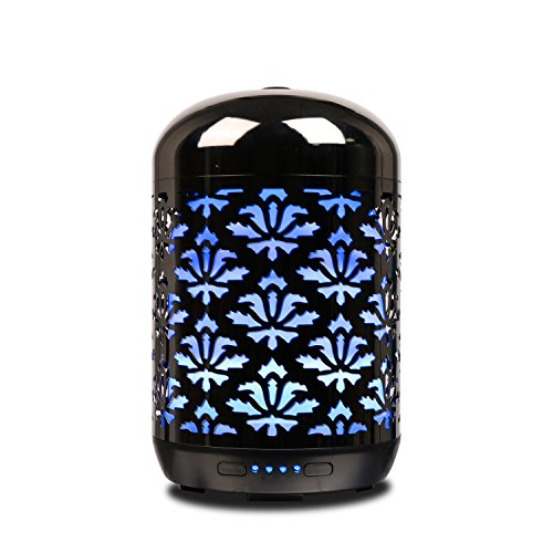 Net 250ml (COOSA 250ml Ultrasonic Aromatherapy Essential Oil Diffuser Cool Mist Humidifier Waterless Auto Shut-off with 4 Time Setting and Color Changing LED Light for Home Office Spa Yoga (Gun color))