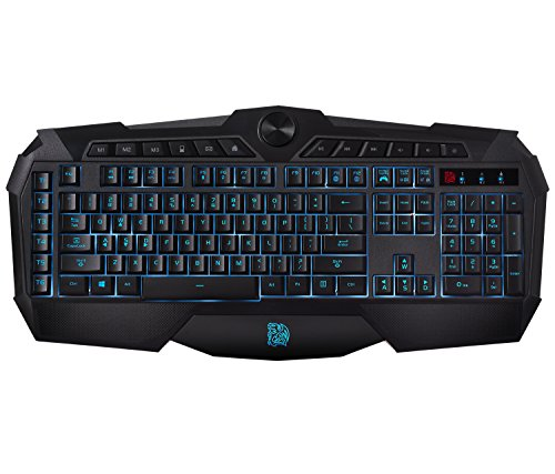 Thermaltake Tt eSPORTS Challenger Prime 3 Color LED Backlighting Anti-Spill Anti-Ghosting Membrane Gaming Keyboard KB-CHM-MBBLUS-01 (Best Mouse For Starcraft 2)