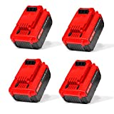 MYTHAUTO 4 Pack Cordless Tool Battery Packs Replacement for 20V MAX 5.0AH Lithium Battery for Porter Cable PCC685L PCC680L Cordless Power Tools