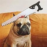 PetBoBo pet Dog Cat Head Funny Joke Trick Toy for Halloween party, Practical Jokes Gag Toys, Fancy Headband Hacksaw