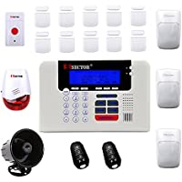 Pisector Professional Wireless Home Security Alarm System Kit with Auto Dial PS03-M