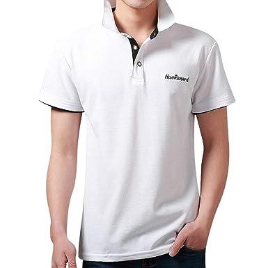 SUDADY Camisetas para Hombre, Han Ranwd Verano Corta Manga Color ...
