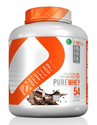 DEVELOPT Pure Whey, 100% Grass Fed Protein, NEW Multi Sustained Assimilation, 6 Sources Whey Protein, No Wheat, No Soy, No Egg, High in BCAA, All Natural, Grassfed, No Acesfulfame, Chocolate Extreme (Performance Soy Protein Pro)