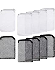 Onwon 10 Pieces Aquarium Filter Bags Fish Tank Media Mesh Filter Bags Net Bag with Zipper for Charcoal Pelletized Remove Activated Carbon, Biospheres, Ceramic Rings