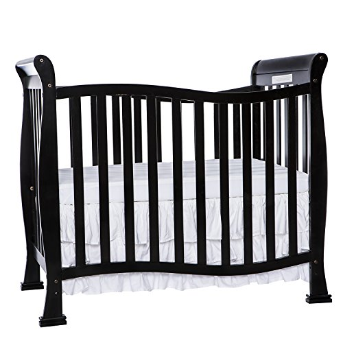 Dream On Me Violet 4 in 1 Convertible Mini Crib, Black by DREAS