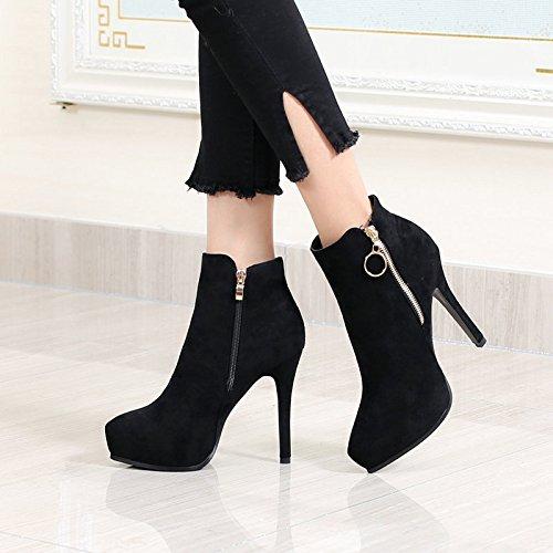 La Botas De Tacón Alto the six Delicado Khskx Zapatos Mujeres Nueva Con Un Impermeable Tendencia Thirty Martin Fine tE8EwqY