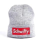 SUPER Q Let's Get Schwifty Watchman Beanie - Unisex Toboggan Skull Hat Daily Wear Grey