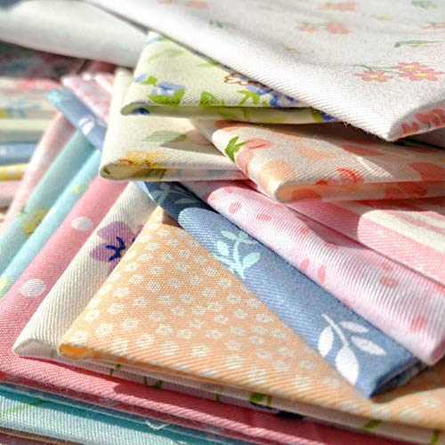 30pcs Quilting Fabric Squares Sheets 30 Different Lovely Floral Pattern Pack Assorted Sewing Fabric for Craft 8