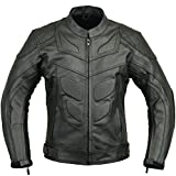 Batman Leather Motorbike Protective Jacket, XL