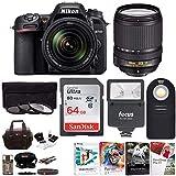 Nikon D7500 20.9MP DX-Format Digital SLR Camera + AF-S 18-140mm f3.5-5.6G VR Nikkor Lens with Flash and Filters and Accessory Bundle