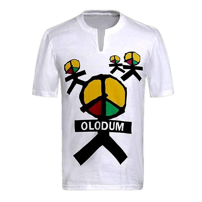 49f5503e90ed0 Chicos Hombres Camisetas Michael Jackson Memorial Shirts OLODUM Peace Anti  War Beat It Piano Camisetas  Amazon.es  Ropa y accesorios