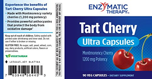 Enzymatic Therapy Tart Cherry Ultra Vegetarian Capsules, 90 Count by Enzymatic Therapy (Image #3)