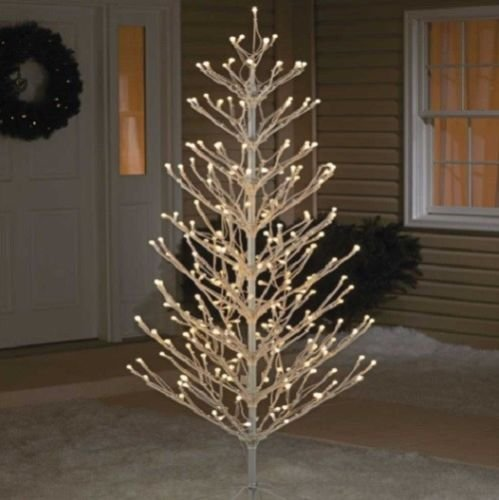 Outdoor Lighted Metal Trees - 8
