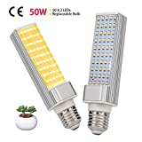 LED Grow Light for Indoor Plants, KINGBO 50W Sunlike Full Spectrum Grow Lamp, LED Grow Lamp for Indoor Garden Seedling Growing (2PCS Plant Growing Light Bulb)