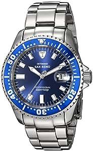 DETOMASO San Remo - Reloj Automatic Forza Di Vita para hombre, color azul / plateado
