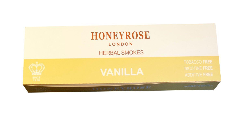 Honeyrose VANILLA - Tobacco & Nicotine Free Herbal Sticks, Pack of 20, Made in England, Free Shipping!