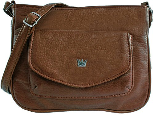 - Purse King Tulip Cross Body Bag (Dark Brown)
