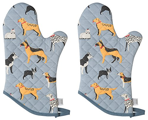 Oven Mitt, Set of Two, Dog Days