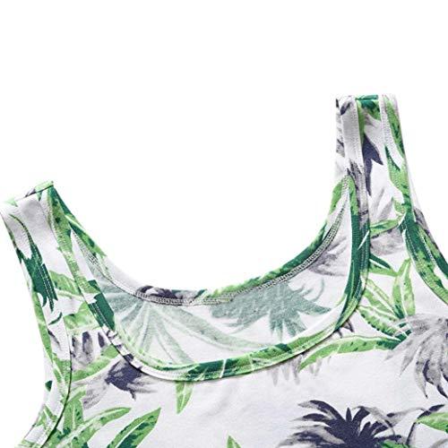 Mangas Vestidos Ropa Sin I Chaleco con Estampado Retro Mini Playa de Camisetas Mujer Vestido Logobeing Falda Verano dtzq1vtf