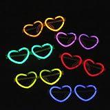 Lugii Cube lumineux Verres colorés fluorescents monture de lunettes en  forme de cœur 8f510b9697f3
