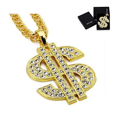 NYUK Gold Chain for Men with Dollar Sign Pendant Necklace for $<!--$16.63-->