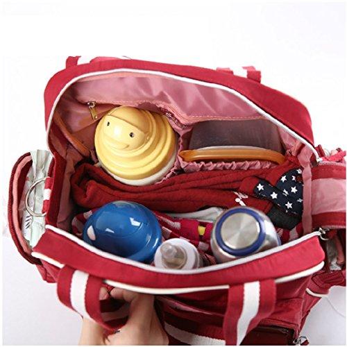 Mommy Bag Multifuncional De Alta Capacidad Madre Paquete Madre - Baby Paquete Fuera De La Mochila Moda Mummy Bag