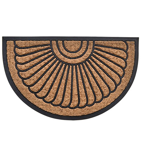 MILLIARD Half Round Coco Fiber Outdoor Entrance Doormat - 18
