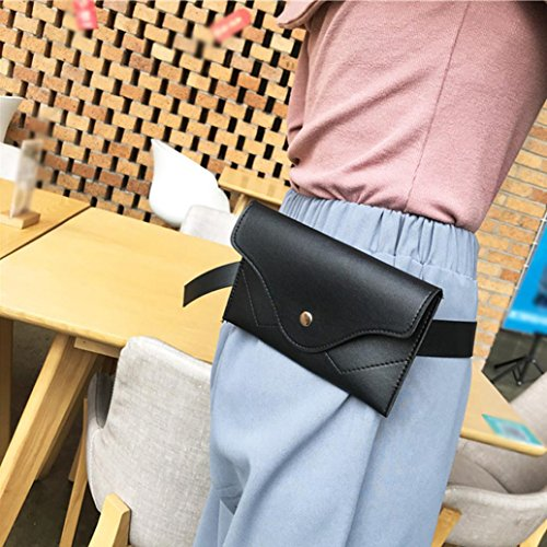 Wallet Handbags Clutch Pocciol Pure Color Messenger Evening Women Black Envelope Splice Leather Black Elegant qq8vrzSZ