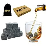 Whiskey Stones in Gift Box with Velvet Carrying Pouch, Design for Whisky, Scotch, Spirit Lovers, Gift Idea for Christmas and Birthday - iiiMY