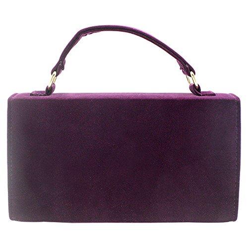 Case Formal Bag Clutch Wiwsi Handbag Hard Shoulder Women Evening Lady Red Purple Party Prom PxpRA0q