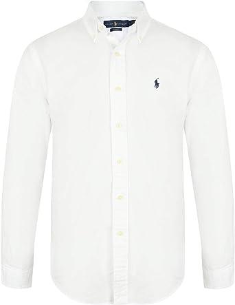 Ralph Lauren Camisa Oxford de ajuste entallado para hombre: Amazon ...