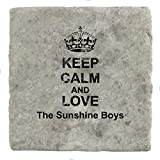 Keep Calm and love The Sunshine Boys - Marble Tile Drink Coaster