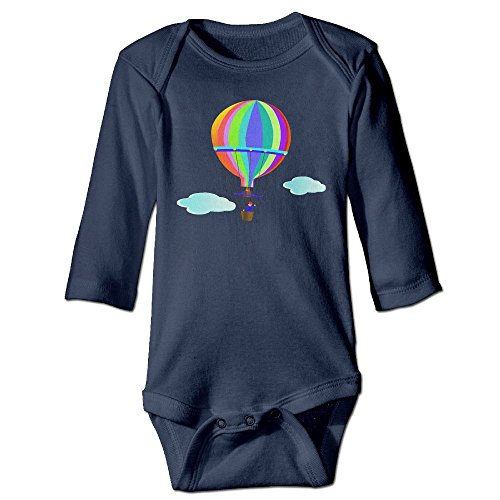 DecorMyGarden Hot Air Balloon Colourful Funny Halloween Printed Romper Clothes For Infant 0-24 Months
