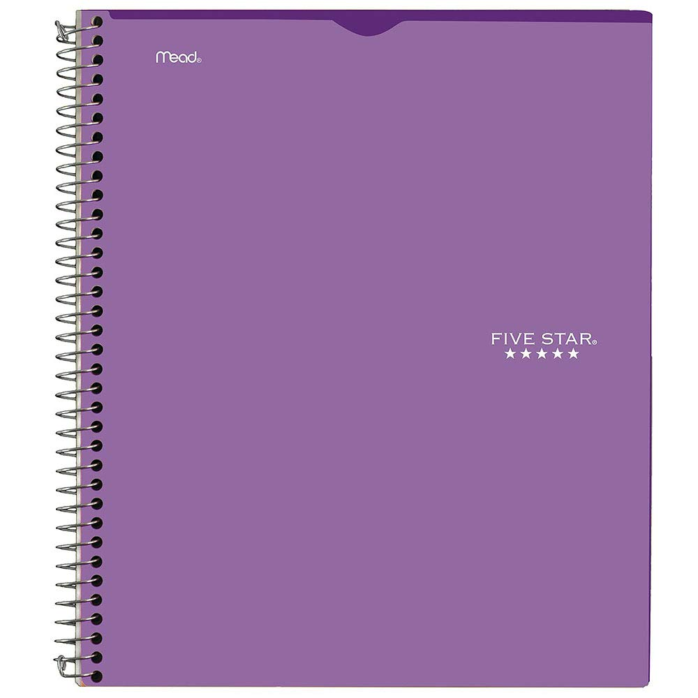 Five Star Interactive Notetaking, 1 Subject, College Ruled Notebook, 100 Sheets, 11'' x 8-1/2'', Customizable, Royal Purple (06374AB6)