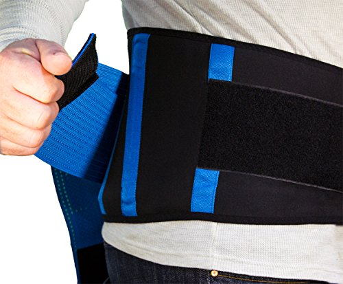 Back Support Brace, Lower Lumbar Belt MEDiBrace II (Medical Grade) Pain & Discomfort Relief from Sciatica, Backache, Slipped Disc, Hernia, Spinal Stenosis, Spine Injury Prevention | Posture Corset by ProfessorZ (Image #6)