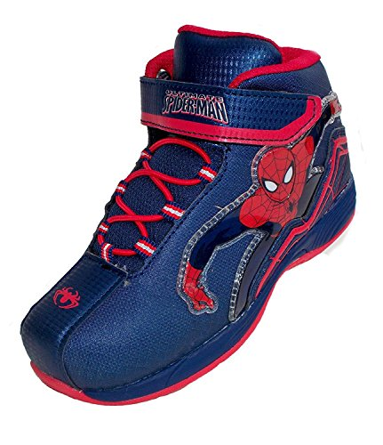 Spiderman Shoes For Kids (Marvel Spiderman Boys Hi Top Athletic shoes (7))