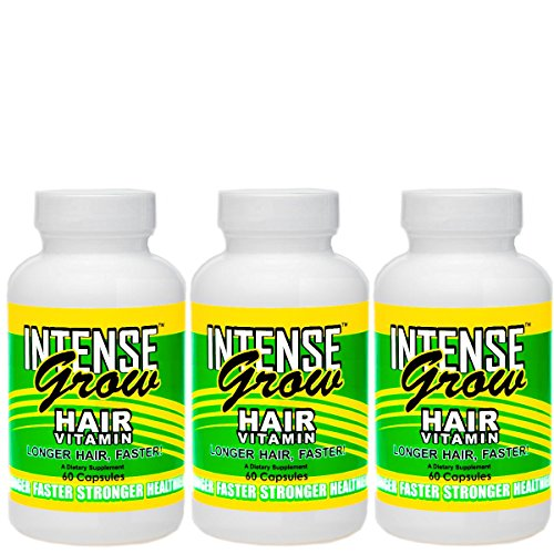 Intense Grow Hair Vitamins 3 Pack Buy At the Lowest Price Ever for Fast Hair Growth Vitamins for ...