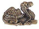 Alilang Topaz Crystal Rhinestone Camel Chillin' Smokey Light Animal Brooch Pin