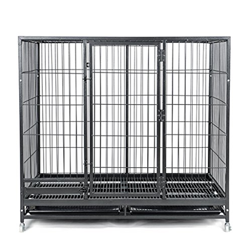 Large Folding Metal Dog Crate With Sunroof And Tray, Indoor Outdoor, Black Pet House For Indoor Outdoor (Color : Small(936080cm)) - Sun Monitor Extension