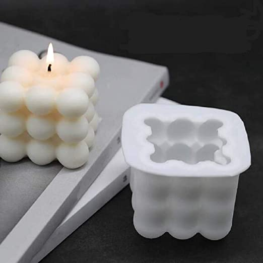 Duftkerze Soy Gelee Pudding Silikon-Form-3d-W/üRfel-Form f/üR Handwerk Muffins Kerzen Silikonform Cake EPODA Mousse Kuchenform Silikon