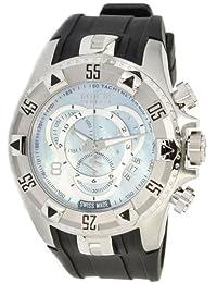 Invicta Men's Reserve Collection Excursion Touring Chronograph Black Polyurethane Strap Watch - 6970