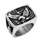 Dixinla Rings Steel , European Fashion Hip-hop Retro Style Men's Eagle Titanium Steel Jewelry Gift for Family or Friends