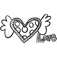 PaintaDoodle 12 x 24 Heart with Wings-Love Painting Kit