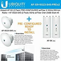 Ubiquiti airFiber AF-5X x2 PRE-CONF 5GHz 200+km + Antenna AF-5G23-S45 (x2) 23dBi