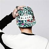 Generic Black1 : Hot 2016 Brand New Snapback Cap Outdoor Cap Men and Women Adjustable Hip Hop Black Snap back Baseball Caps Flower Hats Gorras