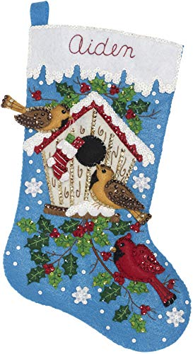 Delta Creative 86944E Christmas Birds Felt Applique Kit