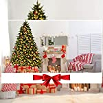 Goplus-Artificial-Christmas-Tree-Pre-Lit-Spruce-Hinged-Tree-wLED-Lights-and-Pine-Cones